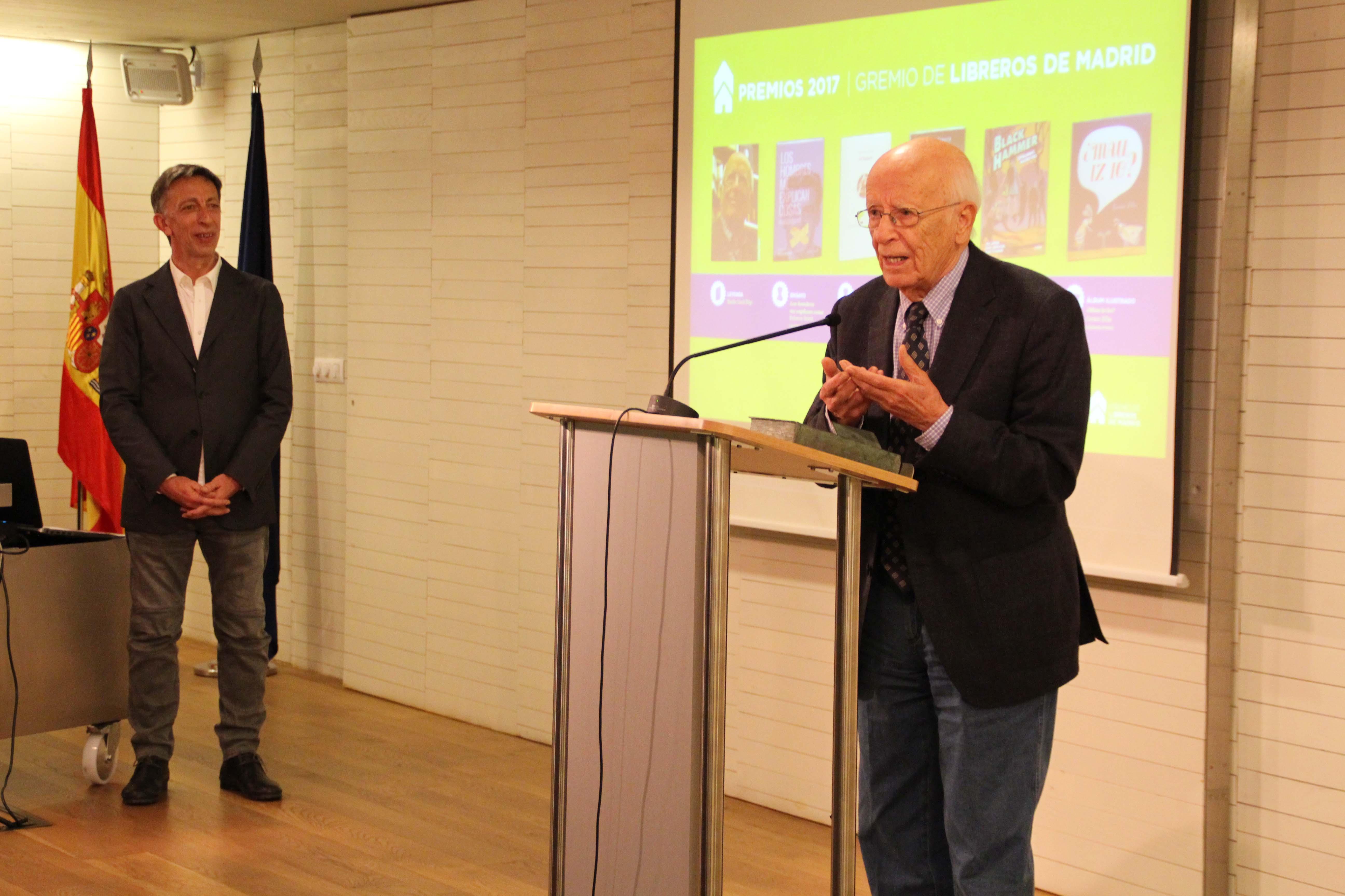 El Gremio de Libreros de Madrid hizo entrega de sus premios anuales