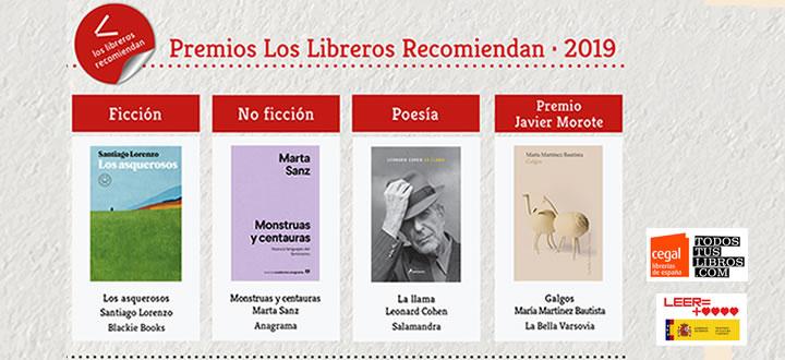 II Premio 'Los Libreros Recomiendan' y II Premio 'Javier Morote'