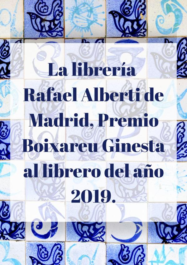 La librería Rafael Alberti, Premio 'Boixareu Ginesta' a la librería del año