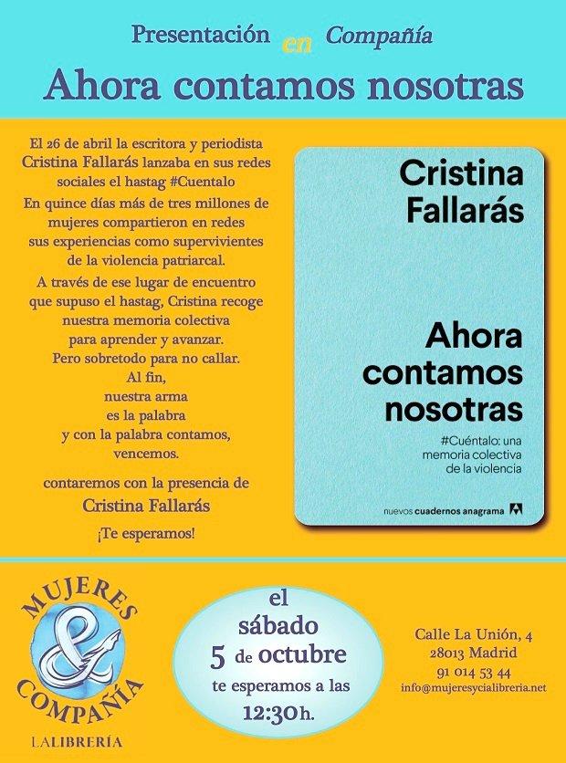 mujeres y cia Encuentro y Presentación con Cristina Fallarás