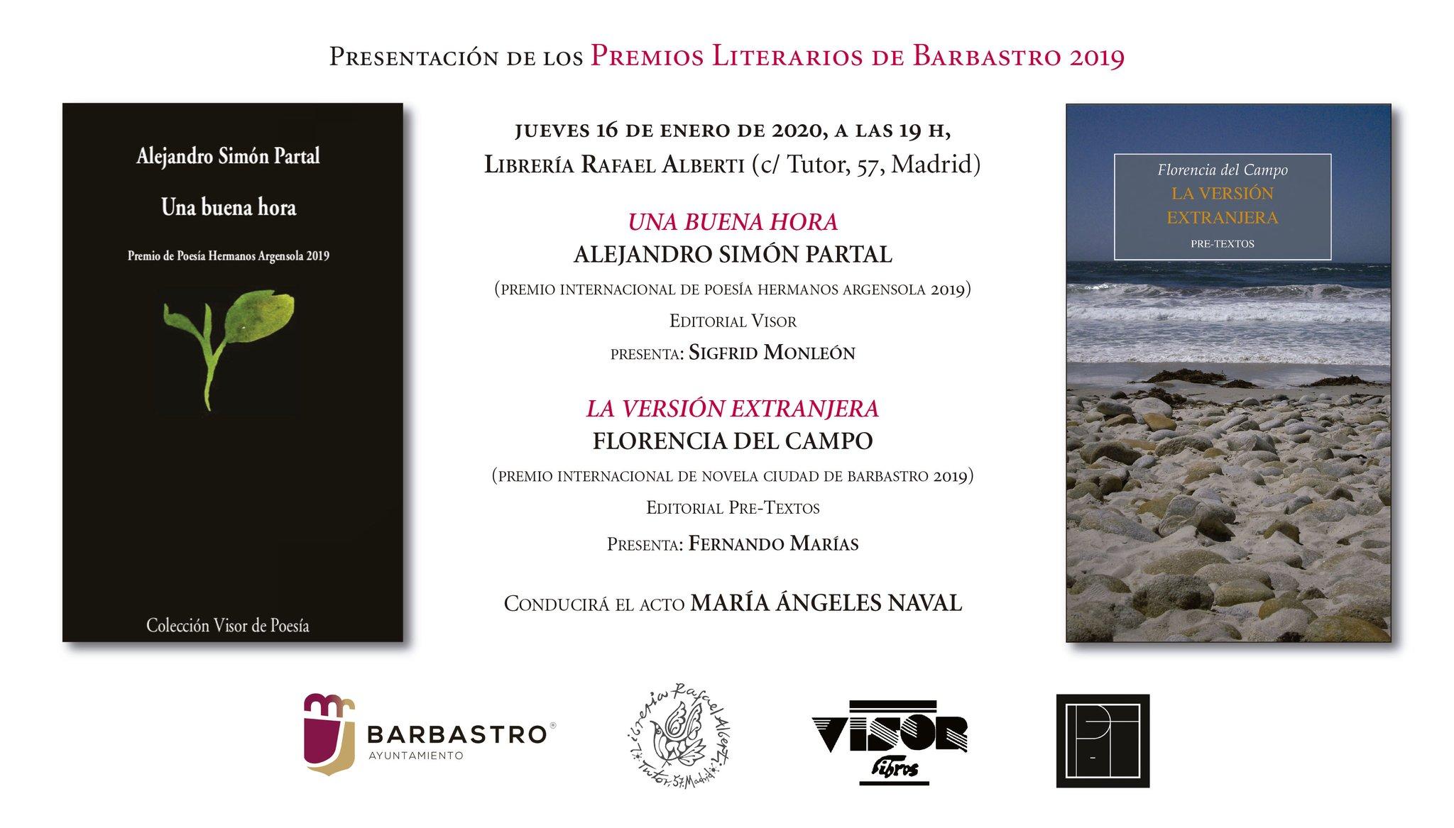 alberti Premios Literarios de Barbastro 2019