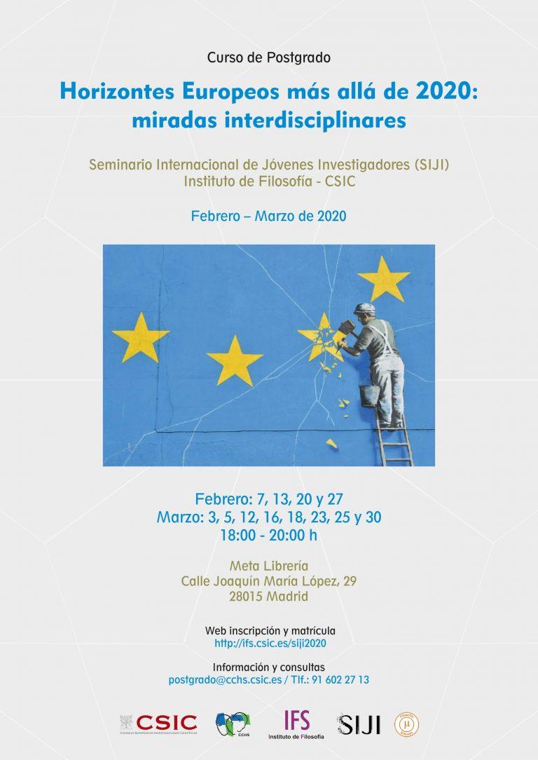 Curso de posgrado – Horizontes europeos más allá del 2020