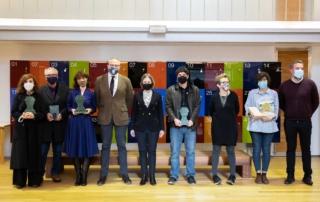 Foto de familia de la ceremonia de entrega de los premios del Gremio de Librerías de Madrid