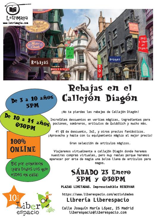 """Taller virtual """"Viaje a las rebajas del Callejón Diagón"""""""