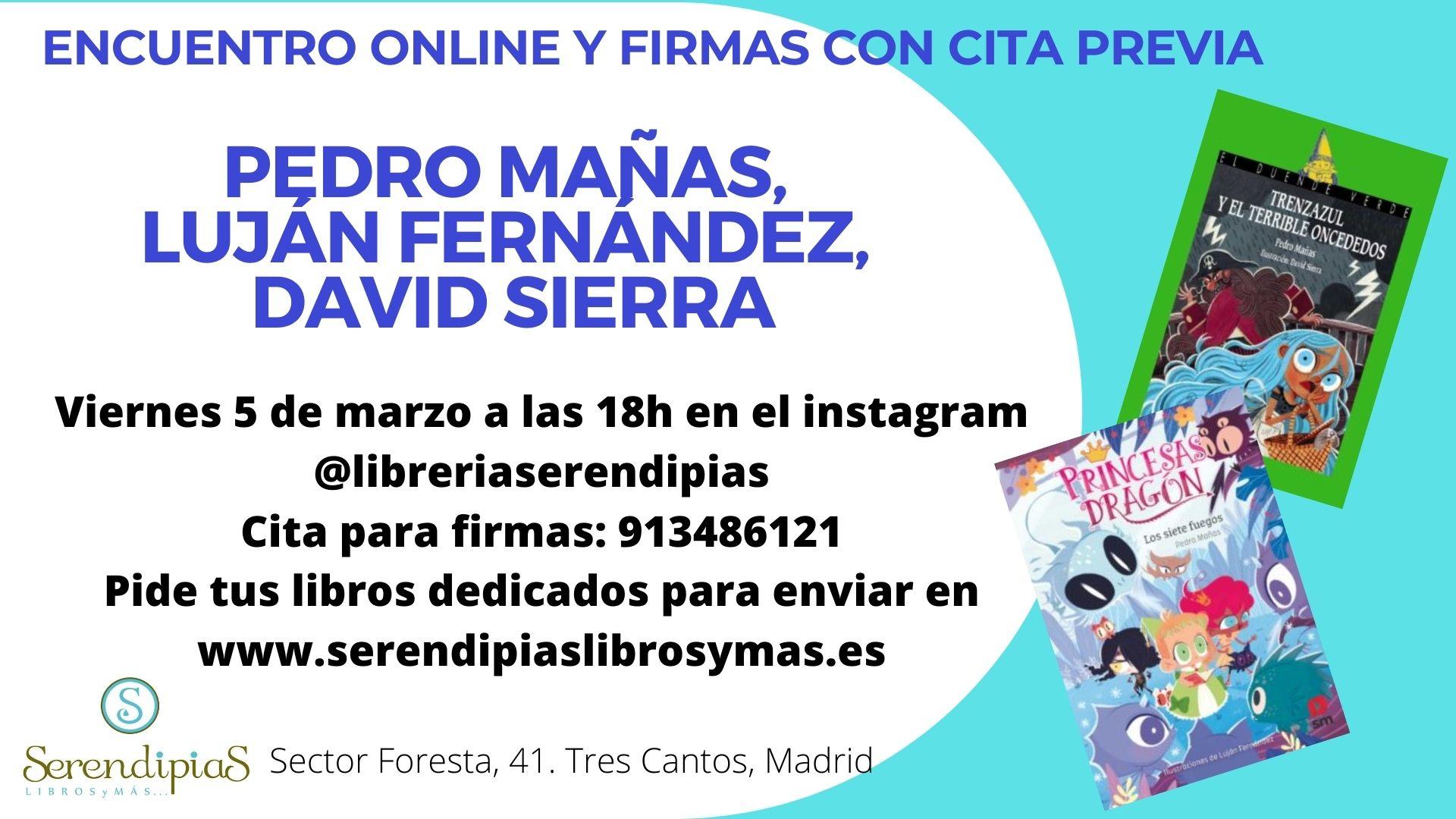Pedro Mañas, Luján Fernández y David Sierra en Serendipias