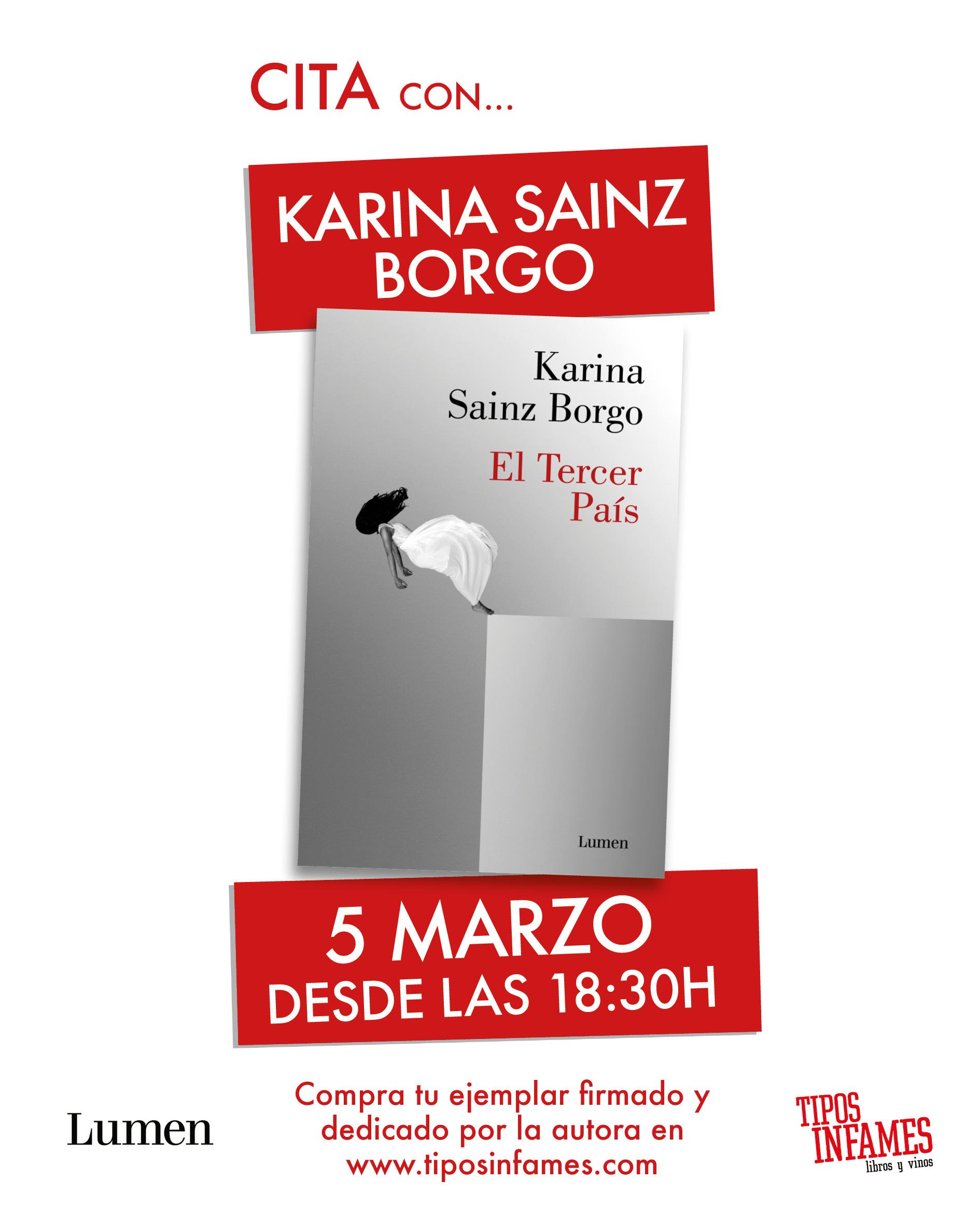 Karina Sainz Borgo en Tipos Infames