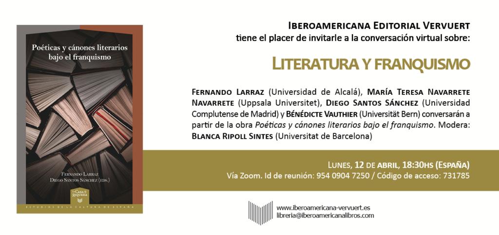 literatura y franquismo en Iberoamericana
