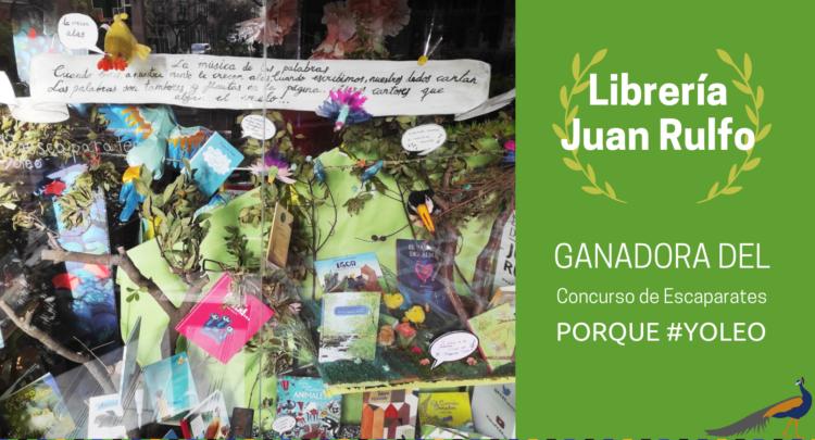 La librería Juan Rulfo gana el concurso de escaparates de la Asociación de Editores de Madrid