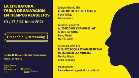 Ciclo sobre literatura protagonizado por escritoras en Blanquerna