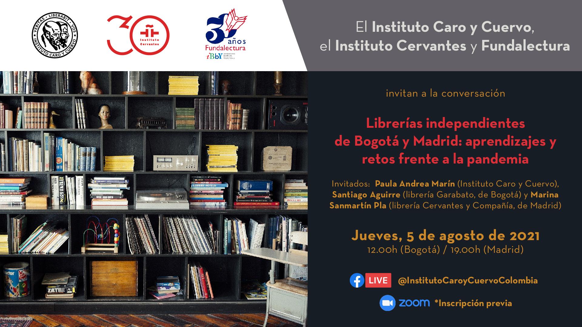 Cervantes y Compañía participa en un debate organizado por el Instituto Caro y Cuervo sobre librerías independientes