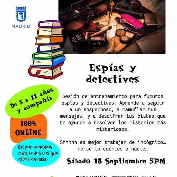 taller virtual Espías y detectives Liberespacio