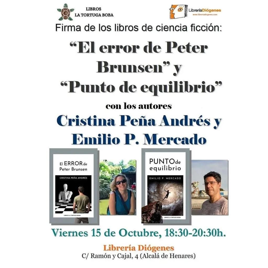 Cristina Peña Andrés y Emilio P. Mercado en Diógenes